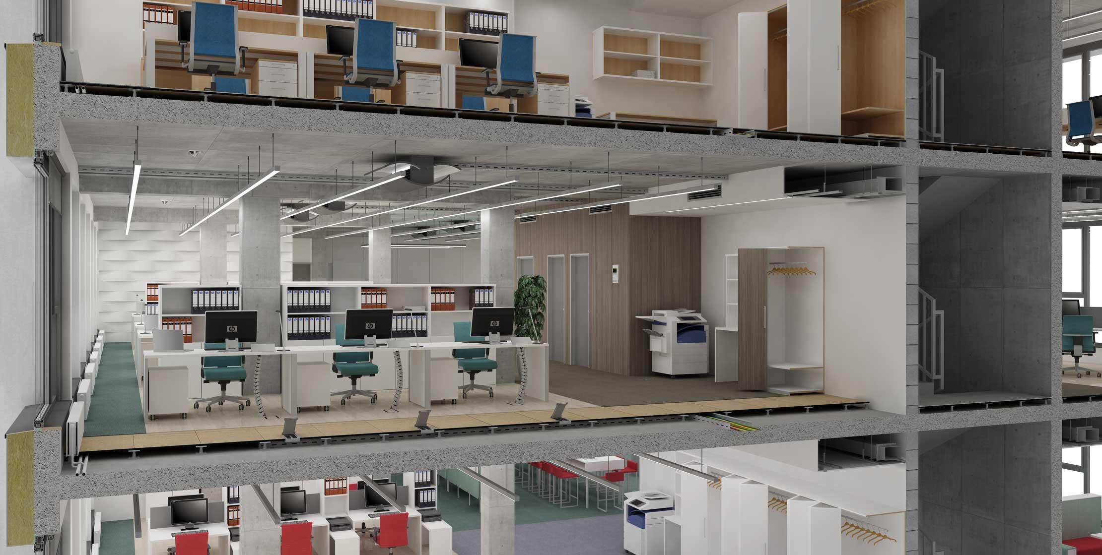 TABÁŇ Offices - štandart vyhotovenia